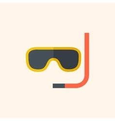 Snorkeling travel flat icon vector