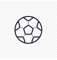 Soccer ball simple line icon football game thin vector