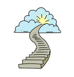 stairway to heaven vector image