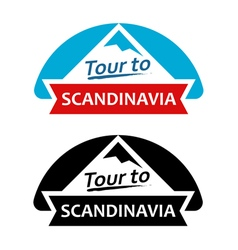 Tour to Scandinavia Set of Badges vector image