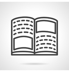 Tutorial book simple line icon vector image