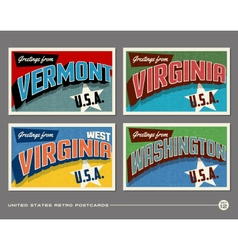 United States vintage postcards vector image