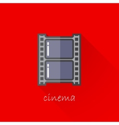 vintage of a film strip in flat style with long vector image vector image