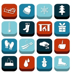 Winter icons vector
