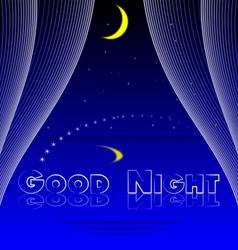 Good night bedroom background vector