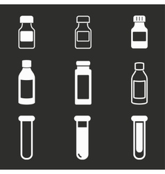 Flask icon set vector