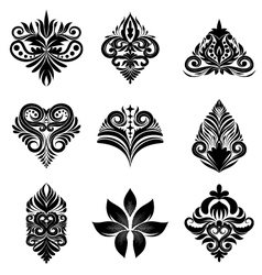 Icon ornamental set vector