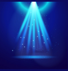 Blue shine light vector