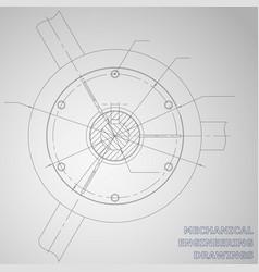 mechanical engineering drawings engineering vector image