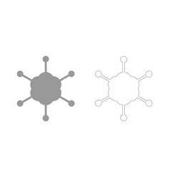 Business network the grey set icon vector