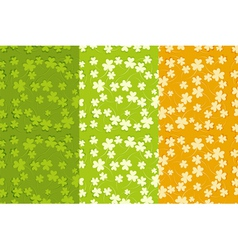 St Patricks Day Seamless Backgrounds Set vector image