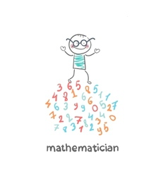 mathematician is on the numbers vector image