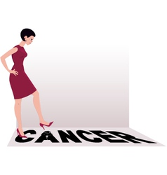 Beat cancer vector image