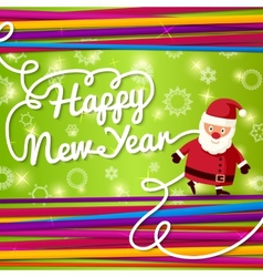 Happy new year greeting card on bright background vector