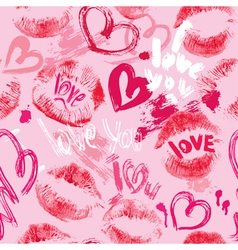 Lips hearts seaml 380 vector