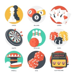 Casino sport and leisure games icons vector