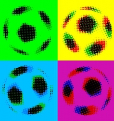Football soccer balls vector