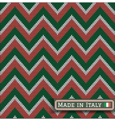 Knitting italy colors pattern sweater battlement2 vector