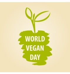 World vegan day vector