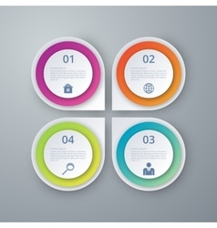 infographics four circles vector image