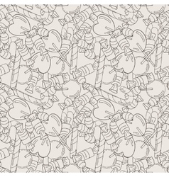 Candy and lollipop seamless pattern vector