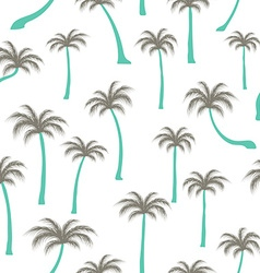 Pattern of palm trees vector