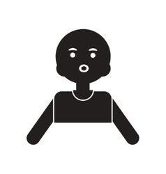 Flat icon in black and white style pale man vector