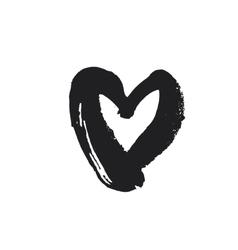 Black heart symbol vector image vector image