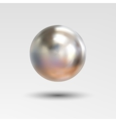 Chrome ball realistic isolated on white background vector