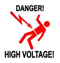 Danger high voltage 1 vector