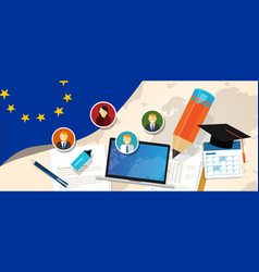 europe corruption eu education school university vector image vector image