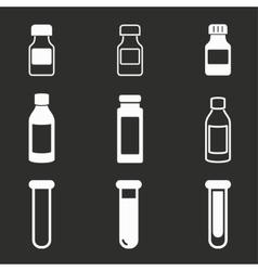 Flask icon set vector
