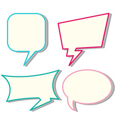 four designs of speech bubbles vector image