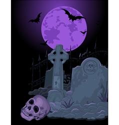 Halloween tomb vector