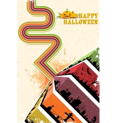 Happy Halloween Backgroun vector image