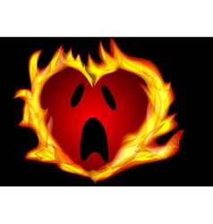 heart burning vector image vector image