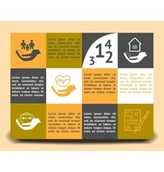 Infographic template insurance company vector