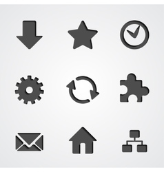 internet icon collection vector image