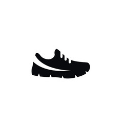 Isolated sport footwear icon gumshoes vector