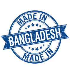 Made in bangladesh blue round vintage stamp vector