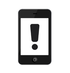modern smartphone isolated on white vector image vector image