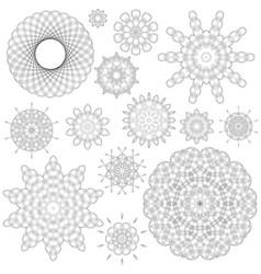 ornamental line pattern vector image vector image