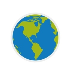 Planet world earth sphere icon graphic vector