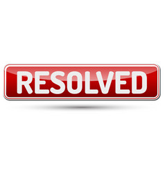Resolved - abstract beautiful button with text vector