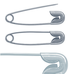safety pin in vintage engraving style vector image vector image