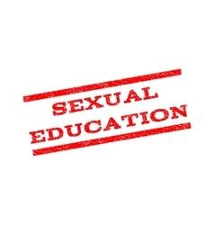 Sexual education watermark stamp vector