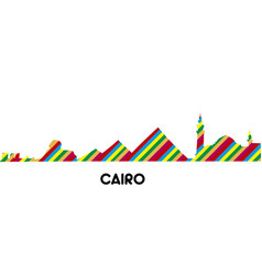 skyline of cairo vector image