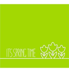 Springtime card on green background vector