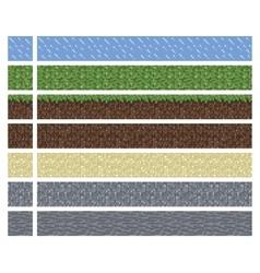 Texture for platformers pixel art - mud vector