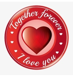 Together forever i love you heart symbol icon vector